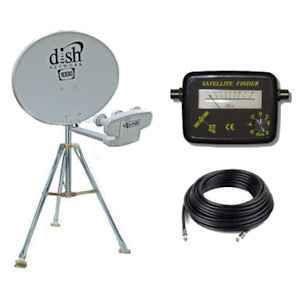 RV Portable Satellite Dish Network HDTV 1000 2 Tripod Kit 1000 Brand