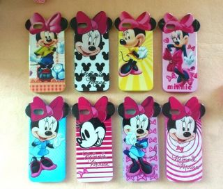 Styles Disney Bow Minnie Mickey Mouse Soft TPU Back Case Cover for
