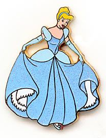 Disney Pin Sparkle Princesses Cinderella Glitter Dress