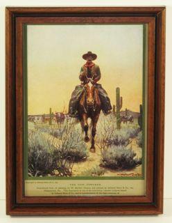 Americana Cabin Art Framed Herbert Dunton Print Western Americana