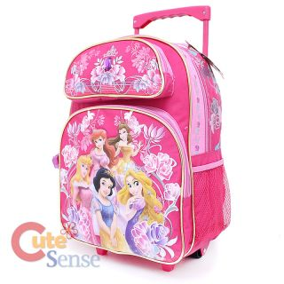 Disney Princess Large Roller Backpack with Lunch Bag Set Glamous