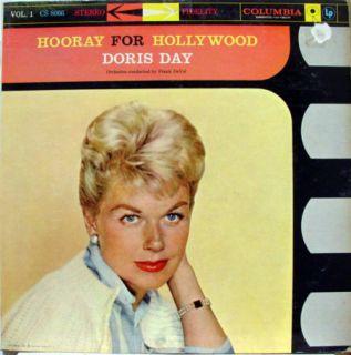 Doris Day Hooray for Hollywood Volume 1 LP VG CS 8066 Vinyl 1959 6i 6