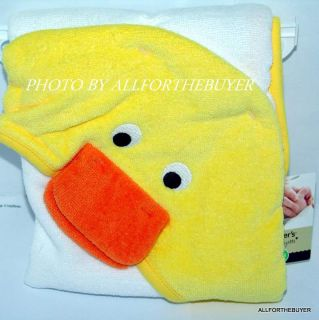Duck Ducky Hooded Baby Bath Towel New