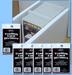 bcw storage box dividers trad card size 60 count