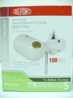 DuPONT LOW PROFILE FAUCET MOUNT DRINKING WATER FILTER PUR BRITTA