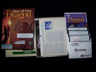 PC IBM Tandy Rise of The Dragon 1990 RPG 100 Game 5 25 Floppy MS Dos