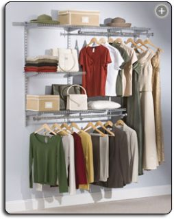 to 6 Foot Classic Custom Closet Organizer Kit Free SHIP