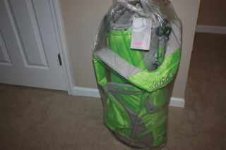 Passion Green Gray Golf Stand Bag w Double Shoulder Straps