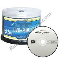 8x 8 5GB DVD R DL Double Layer Logo Top Blank Media Discs