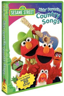Sesame Street Kids Favorite Country Songs DVD New 891264001304