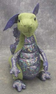 NWTS Douglas Cuddle Toy Plush Embers Green Dragon 9 Tall Stuffed