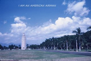 Hand Made Postcard Hickam Tower Hickam Air Force Base I Am An American