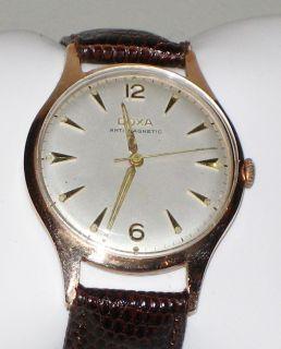 Doxa s A 14 Karat Pink Solid Gold Mens Dress Watch Manual Wind