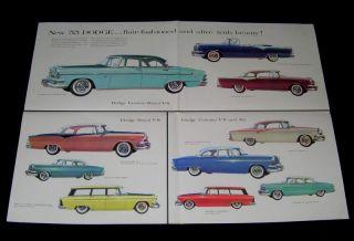 Dodge 1955 Poster Brochure Royal Lancer Coronet