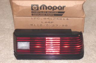 Mopar Tail Light Daytona Shelby Charger Dodge Laser Turn Signal Brake