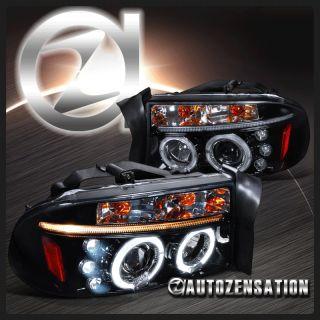 97 01 Dakota/98 03 Durango [Piano Black] LED Halo Projector Headlights