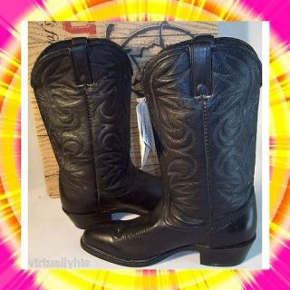 NEW DURANGO BOOTS MENS SZ 8 5D BLACK LEATHER COWBOY BOOTS NICE