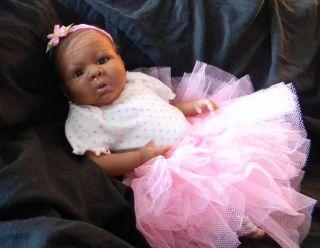 Precious Ethnic African American Reborn Baby Girl OOAK