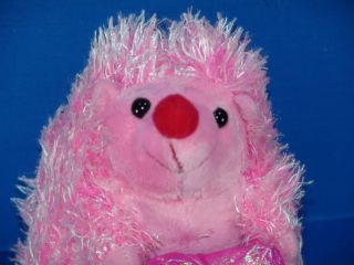 Valentine Heart Lover Plush Hug Me Pink Hedgehog Stuffed Animal Toy