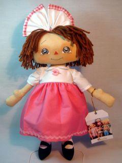 Primitive Doll Raggedy Ann Andy Pink Annie