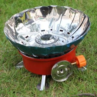 Outdoor Portable Gas Propane Burner Gas Stove Camping Stove Silver Red