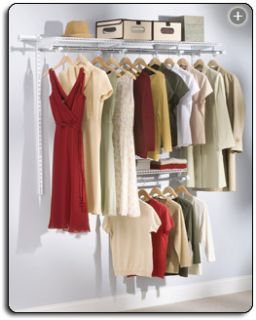 Storage Rubbermaid Configurations 3 to 6 Foot Closet Kit
