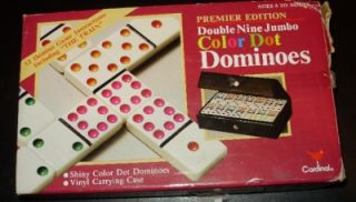 Double Nine Jumbo Color Dot Dominoes with Vinyl Case Instructions