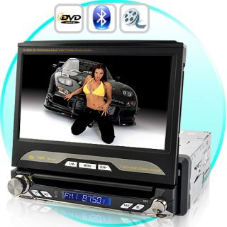 Car DVD Media Player Stereo HD 1 DIN Multimedia Entertainment
