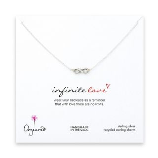 Dogeared Sterling Silver Dipped Infinite Love Necklace 16 Infinity