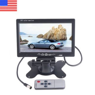 LCD Car Rear View Headrest Monitor DVD VCR Monitor US Shipping