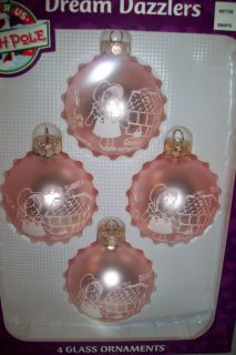 north pole dream dazzlers glass christmas ornament bulbs nib