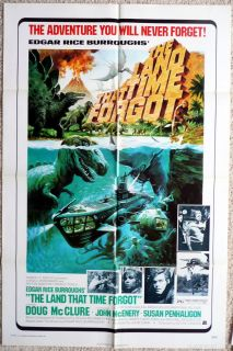 TIME FORGOT 1975 original adventure movie poster 1 sheet DOUG McCLURE