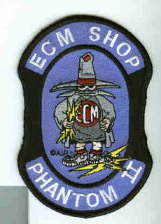 McDonnell Douglas F 4 Phantom ECM Shop USAF Fighter Squadron Patch