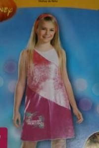 New Disney Hannah Montana Pink Dress with Wig Size 4 6