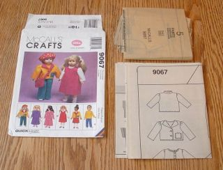 18 American Girl GOTZ Doll Clothes Sewing Pattern OOP