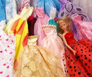 ! fashion barbie doll toy story clothes dresses shoes dress up girl