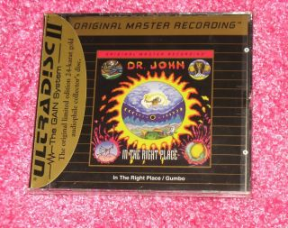 DR JOHN   Gumbo / In the Right Place MFSL Gold Disc CD SS New Orleans