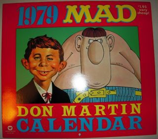 MINT Conditon MAD Magazines Don Martin 1979 Calendar Alfred E Neuman