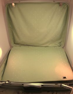 Vintage Samsonite Silhouette Green Hardside 25 Pullman Suitcase w
