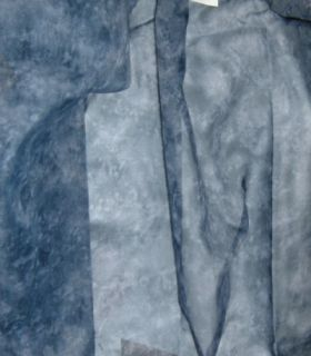 Navy Blue Semi Sheer Curtain Scarf 58X216 A870