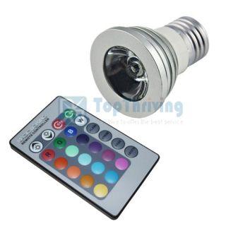 4X E27 3W 16 Color Changing RGB LED Light Bulb Lamp 85 265V IR Remote