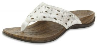 Orthaheel Aurora Womens Metal Grommets Sandals White Metallic 2012