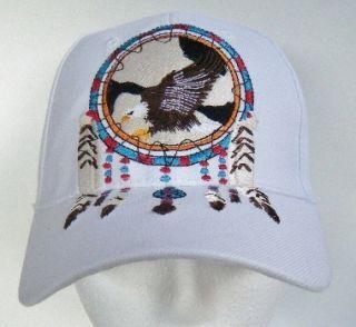 Eagle Hat Baseball Cap Dream Catcher Feathers Native Indian Chapeau