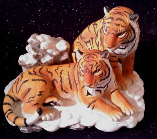 Home Interiors Siberian Tigers, Endangered Species, Masterpiece
