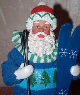 POSSIBLE DREAMS CLOTHTIQUE CHRISTMAS SKIS SKIING SANTA CLAUS
