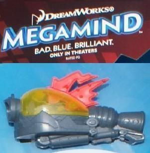 2010 McDonalds 6 Dreamworks Megamind Bad Blue Brilliant Light Effects