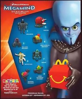 McDonalds 8PC Toy Set 2010 New in Pack Dreamworks Animation