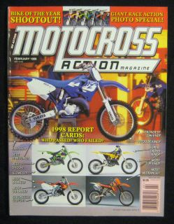 Motocross Action Magazine February 1998 MXA 125 Shootout