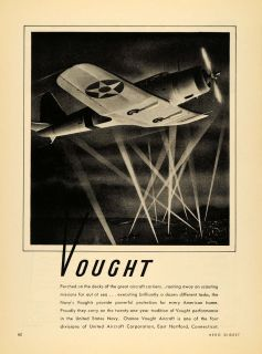 Vought Aircraft United States Navy Hartford Con   ORIGINAL ADVERTISING