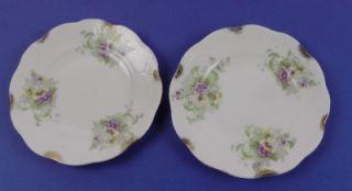Antique East Liverpool Potteries Co. Bread & Butter Plates, floral